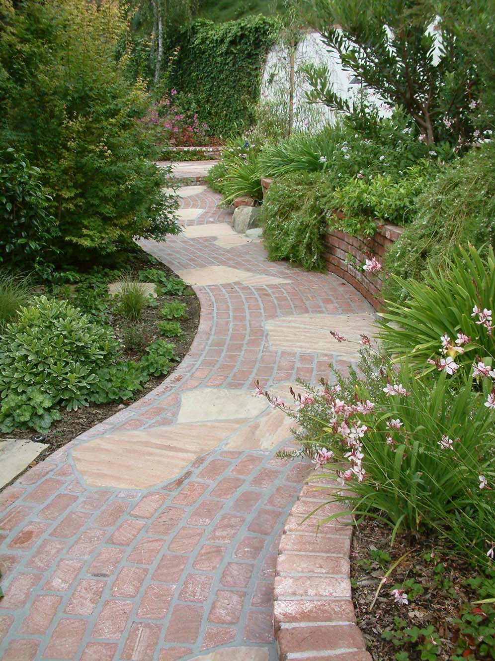 Curvaceous Brick Path